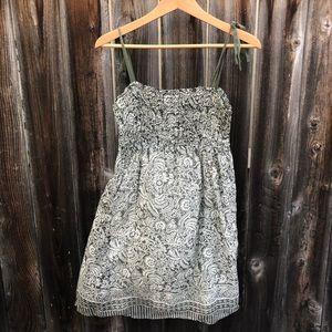 Joie green & white summer dress